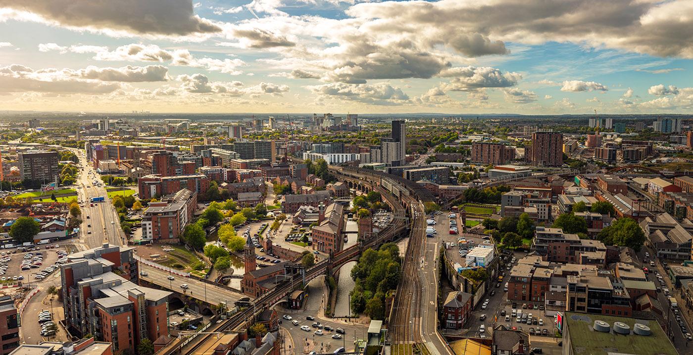 Vue aérienne de Manchester