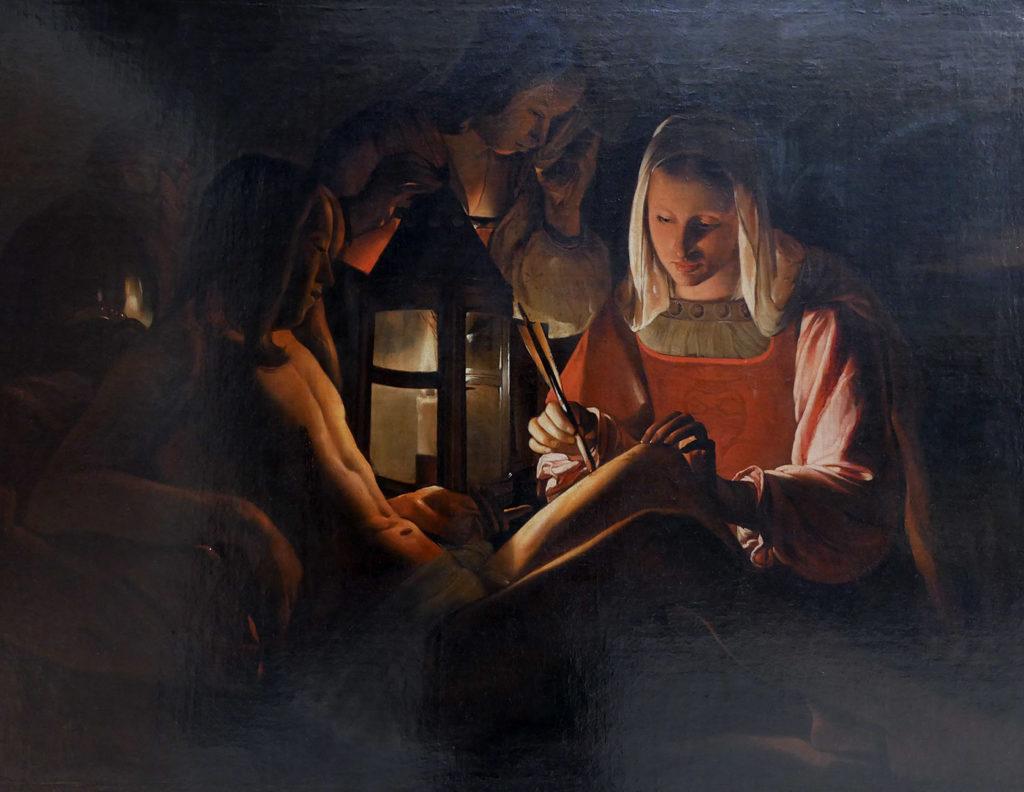 D'après George De La Tour, Saint Sébastien soigné par Irène