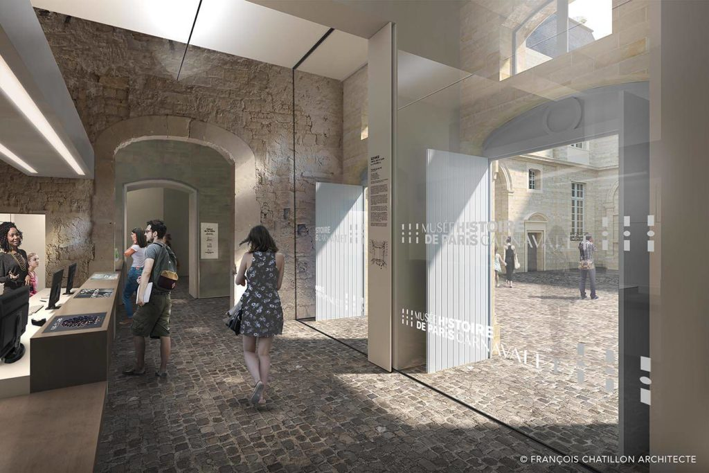 Chantier du musée Carnavalet (projection après travaux)