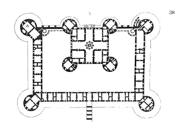 Plan of chambord castle