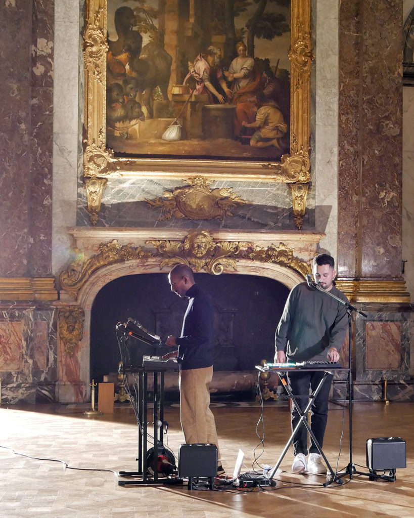Recording of the videoclip of Jaffna at the Palace of Versailles