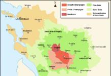 Map of Cognac Crus