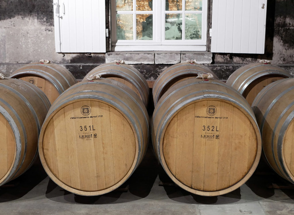Cognac aak casks used for the ageing of eaux-de-vie