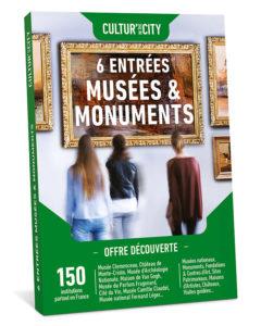 Idée de cadeau sympa : un coffret musées et monuments