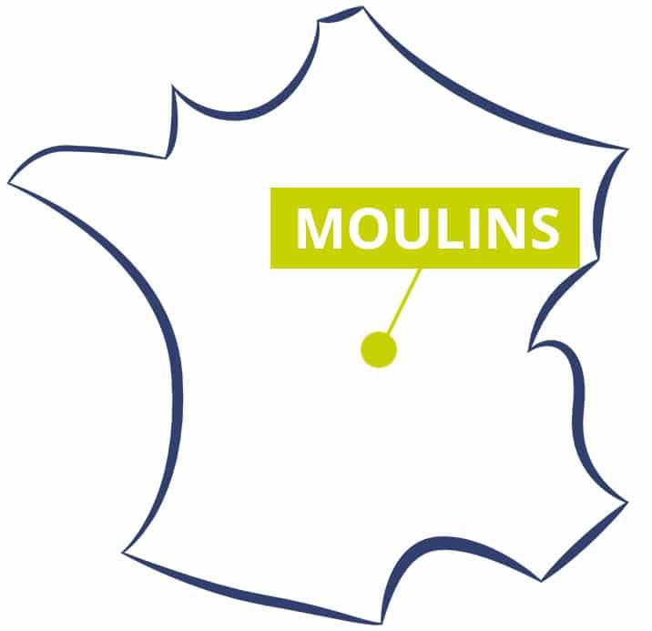 Visite de Moulins en France