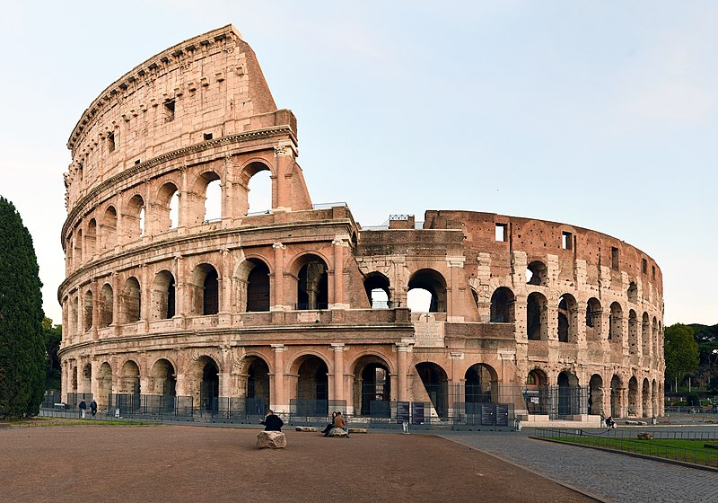 Colosseum of Rome, photo from FeaturedPics via Wikimedia Commons