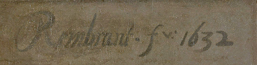 Signature de Rembrandt, 1632