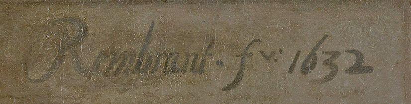 Rembrandt's signature