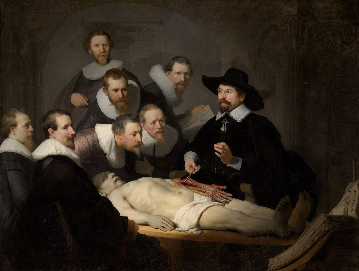 Rembrandt, La leçon d'anatomie du docteur Tulp, 1632