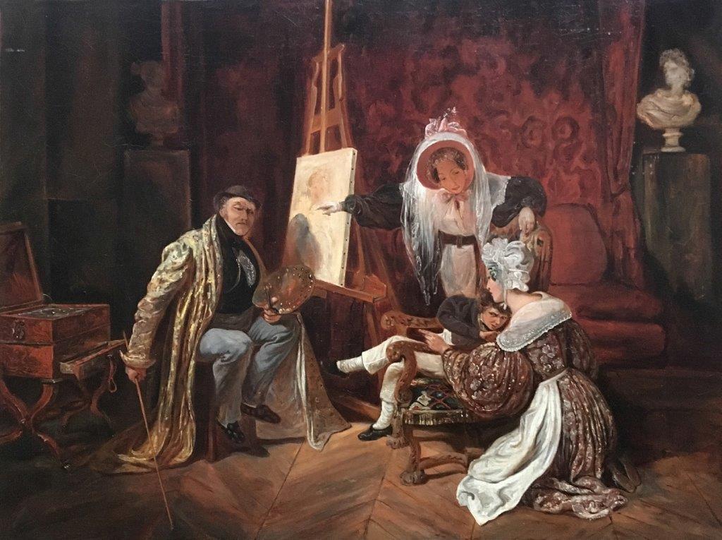 Scène de genre par François Auguste Biard