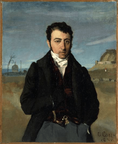 Portrait of François Auguste Biard by Corot, 1830