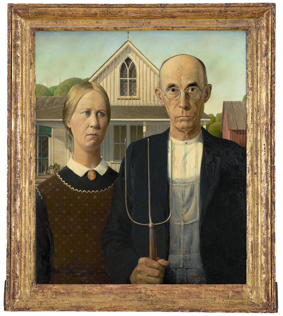 Analyse du tableau American Gothic de Grant Wood