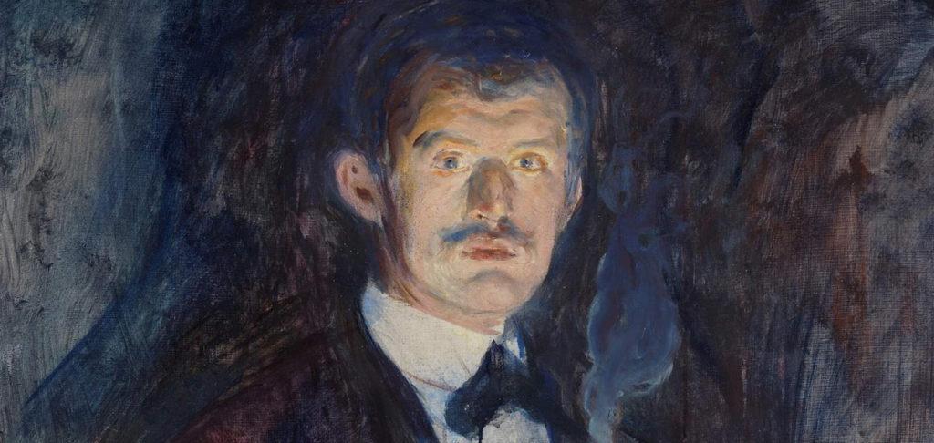 Edvard Munch, self-portrait (detail), 1895