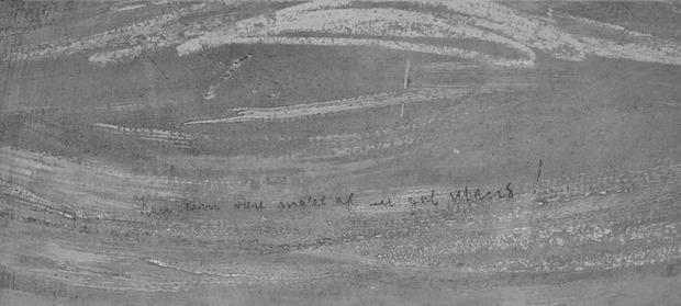 Inscription cachée dans le tableau Le Cri d'Edvard Munch
