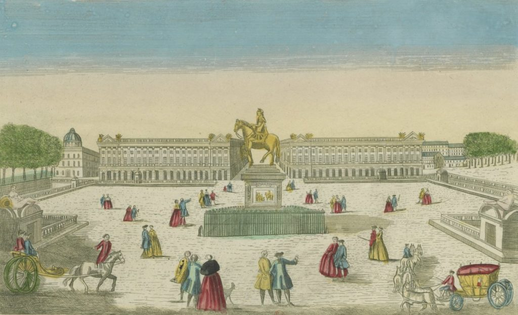 Perspective view of the Place de Louis XV, optical view published by Mondhare, around 1763, Gallica/BnF
