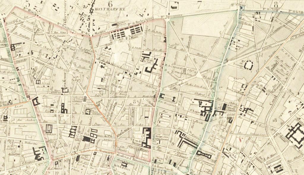 Plan de Paris en 1843
