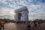 L'Arc de Triomphe empaqueté par Christo et Jeanne-Claude